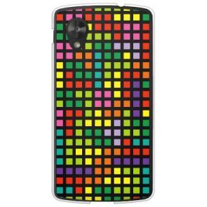 ネクサス5 ケース Google Nexus 5 EM01L テトリス ブロック ブラックマルチ|isense