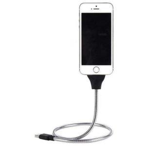 充電 ケーブル iPhone用 Type-C用 microUSB用 要タイプ選択 メタルスタンドケーブル|isense
