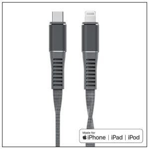 【2/22-25までのお得なセール】Type-C to Lightningケーブル 【1m】【平織】【グレー】【TRANGJAN】【Apple MFi認証取得】|isense