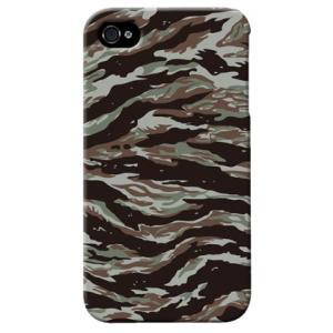 iphone4s カバー iPhone 4S ケース カバー タイガー 迷彩 カモフラ ミリタリー サバゲー 軍モノ TYPE1|isense