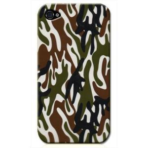 iphone4s カバー iPhone 4S ケース カバー ウッドランド 迷彩 カモフラ ミリタリー サバゲー 軍モノ TYPE2|isense