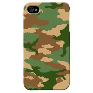 iphone4s カバー iPhone 4S ケース カバー ウッドランド 迷彩 カモフラ ミリタリー サバゲー 軍モノ TYPE5|isense