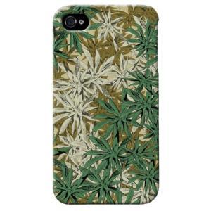 iphone4s カバー iPhone 4S ケース カバー マリファナ 迷彩 カモフラ ミリタリー サバゲー 軍モノ|isense