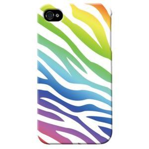 iphone4s カバー iPhone 4S ケース カバー マルチゼブラ シマウマ柄ケース ゼブラ柄カバー|isense