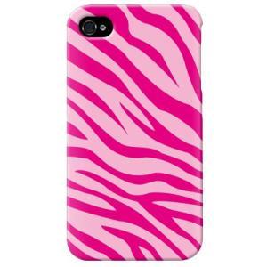 iphone4s カバー iPhone 4S ケース カバー ゼブラ シマウマ柄ケース ゼブラ柄カバー ピンク|isense