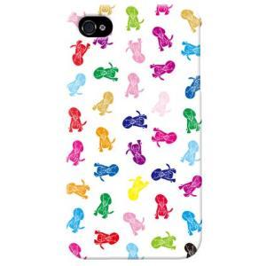 iphone4s カバー iPhone 4S ケース カバー 犬柄 ドッグ ワンちゃん 犬シルエット Dogs ホワイト|isense