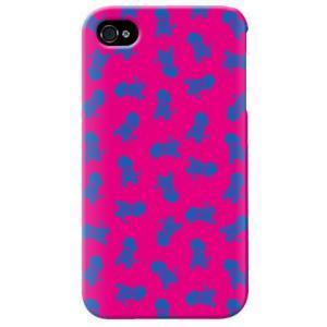 iphone4s カバー iPhone 4S ケース カバー 犬柄 ドッグ ワンちゃん 犬シルエット Dogs ピンク|isense