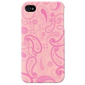 iphone4s カバー iPhone 4S ケース カバー paisley バンダナ ペイズリー柄 ペイズリー サーモンピンク|isense