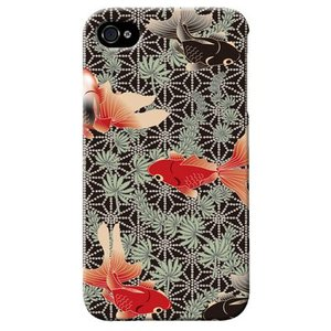 iphone4s カバー iPhone 4S ケース カバー 金魚 きんぎょ 和柄 金魚ケース 金魚カバー|isense