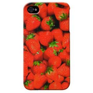 iphone4s カバー iPhone 4S ケース カバー イチゴ いちご 苺 ストロベリー いちご柄|isense