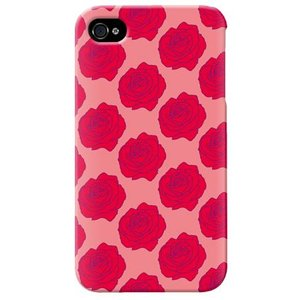 iphone4s カバー iPhone 4S ケース カバー バラ柄 薔薇 バラ柄ケース ローズ サーモンピンク|isense
