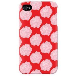 iphone4s カバー iPhone 4S ケース カバー バラ柄 薔薇 バラ柄ケース ローズ レッド|isense