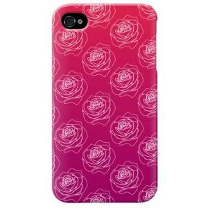 iphone4s カバー iPhone 4S ケース カバー バラ柄 薔薇 バラ柄ケース ローズ グラデーション|isense