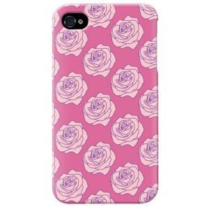 iphone4s カバー iPhone 4S ケース カバー バラ柄 薔薇 バラ柄ケース ローズ バイオレッド|isense