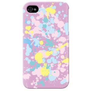 iphone4s カバー iPhone 4S ケース カバー ドリップ パープル|isense