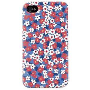 iphone4s カバー iPhone 4S ケース カバー 花柄ケース 花 カバー スモールフラワー ブルー|isense