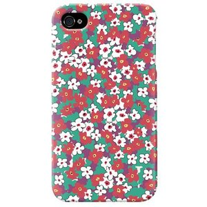 iphone4s カバー iPhone 4S ケース カバー 花柄ケース 花 カバー スモールフラワー ディープグリーン|isense