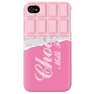 iphone4s カバー iPhone 4S ケース カバー チョコカバー バレンタイン ストロベリーチョコレート|isense