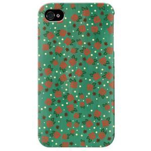 iphone 4s ケース iphone4s カバー アイフォン4s ローズドット グリーン|isense
