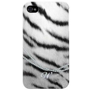 iphone 4s ケース iphone4s カバー アイフォン4s シマウマ zebra ゼブラ柄 イニシャル W|isense