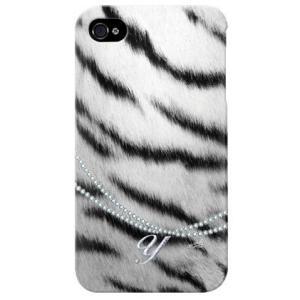 iphone 4s ケース iphone4s カバー アイフォン4s シマウマ zebra ゼブラ柄 イニシャル Y|isense