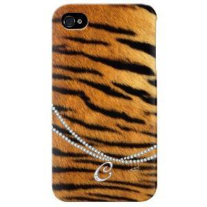 iphone 4s ケース iphone4s カバー アイフォン4s タイガー 虎 トラ柄 イニシャル C|isense