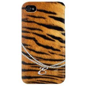 iphone 4s ケース iphone4s カバー アイフォン4s タイガー 虎 トラ柄 イニシャル E|isense