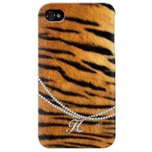 iphone 4s ケース iphone4s カバー アイフォン4s タイガー 虎 トラ柄 イニシャル H|isense