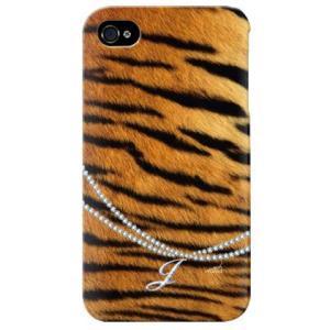 iphone 4s ケース iphone4s カバー アイフォン4s タイガー 虎 トラ柄 イニシャル J|isense