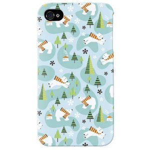 iphone 4s ケース iphone4s カバー アイフォン4s 白クマ ベア 熊 くまくん グリーン