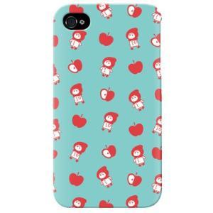 iphone4s カバー iPhone 4S ケース カバー リンゴとずきんちゃん Blue|isense