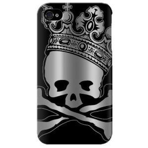 iphone4s カバー iPhone 4S ケース カバー ホログラム ドクロ どくろ 骸骨 スカルキング isense