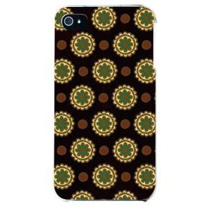 iphone 4s ケース iphone4s カバー アイフォン4s フラワー スポット チョコレートグリーン|isense
