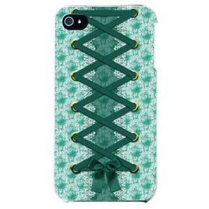 iphone 4s ケース iphone4s カバー アイフォン4s コルセット グリーン|isense