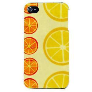 iphone 4s ケース iphone4s カバー アイフォン4s オレンジ フルーツ イエロー|isense