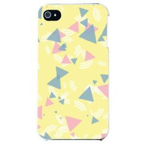 iphone 4s ケース iphone4s カバー アイフォン4s 三角形 三角デザイン さんかく イエロー|isense