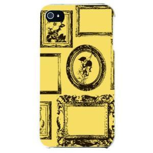 iphone 4s ケース iphone4s カバー アイフォン4s 額デザイン フレーム イエロー|isense