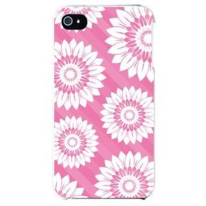 iphone4s カバー iPhone 4S 花柄 フラワーデザイン フラワーストライプ ピンク|isense