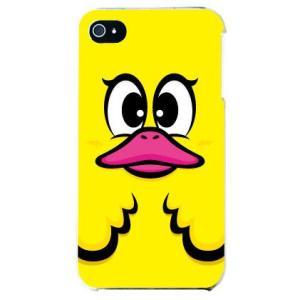 iphone4s カバー iPhone 4S アヒル カワイイ デザイン ハニーダック イエロー|isense
