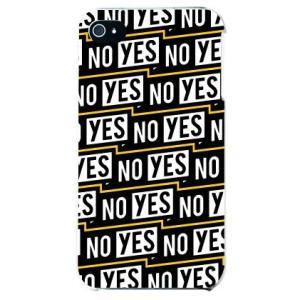 iphone4s カバー iPhone 4S YES NO シール YESNOラベル イエロー|isense