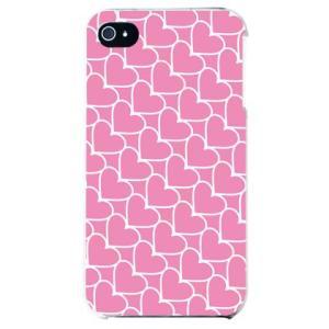 iphone4s カバー iPhone 4S ケース カバー ハートデザイン ハート柄 ハートストライプ ピンク ホワイト|isense