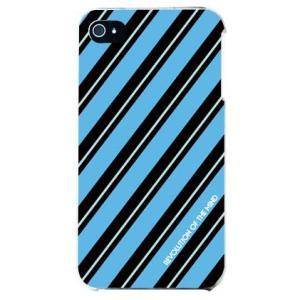 iphone4s カバー iPhone 4S ケース カバー ROTM Stripe ストライプ ターコイズ|isense