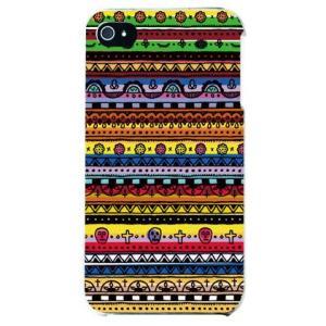iphone4s カバー iPhone 4S ケース カバー メキシカンフォーク マルチ|isense