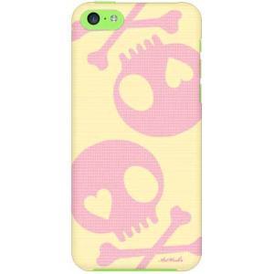 iPhone 5c ケース iPhone5c カバー アイフォン5c スカル イエロー ピンク