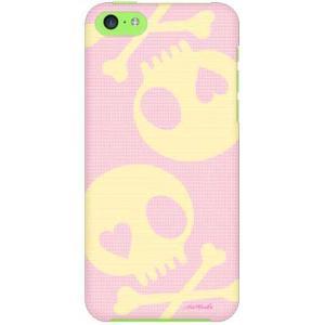 iPhone 5c ケース iPhone5c カバー アイフォン5c スカル ピンク イエロー