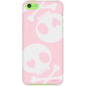 iPhone 5c ケース iPhone5c カバー アイフォン5c スカル ピンク グレー