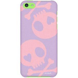 iPhone 5c ケース iPhone5c カバー アイフォン5c スカル ピンク パープル