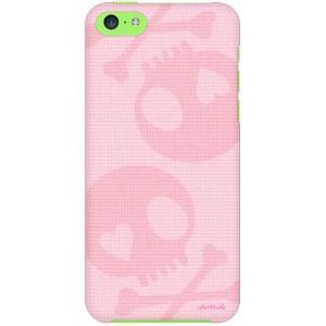 iPhone 5c ケース iPhone5c カバー アイフォン5c スカル ピンク ピンク