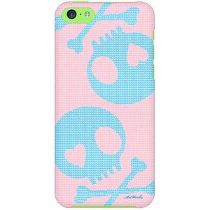 iPhone 5c ケース iPhone5c カバー アイフォン5c スカル ピンク ブルー