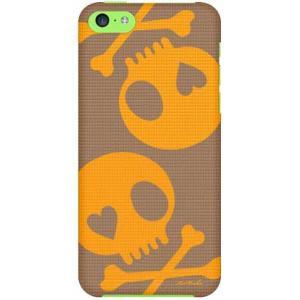 iPhone 5c ケース iPhone5c カバー アイフォン5c スカル ブラウン オレンジ